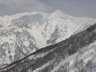西稜から望む八海山