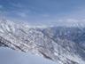 丹後山から中津川山への白き稜線