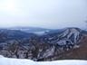 吾妻耶山の左後方に赤城山