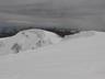 阿能川岳頂稜の雪庇