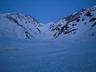 日の出直前の大雪渓
