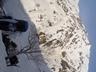 主稜を背に小蓮華尾根下部を登る
