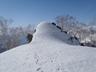 小蓮華尾根の雪稜