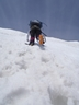 稜線への力強い登行