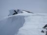白馬岳頂稜の雪庇