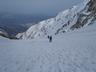 大雪渓最上部