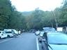 竹宇駒ヶ岳神社登山口駐車場の早朝の様子