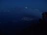 テン場から見えた甲府の夜景