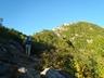 甲斐駒ヶ岳に続く登山道