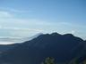 石の鳥居跡から見えた富士山