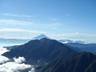 山頂から見えた富士山