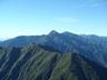 山頂から見えた北岳