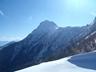稜線から振り返る赤岳